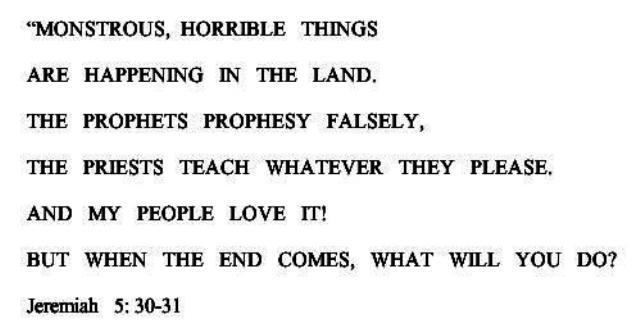 Jeremiah 5-30,31