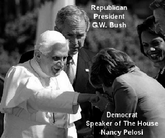 Bush-Pelosi-Pope